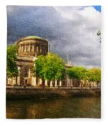 The Four Courts In Reconstruction 2 Fleece Blanket