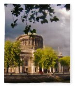 The Four Courts In Reconstruction Fleece Blanket