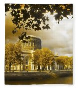 The Four Courts In Reconstruction Sepia Fleece Blanket