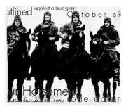 The Four Horsemen Of Notre Dame Fleece Blanket