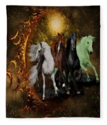 The Four Horses Of The Apocalypse Fleece Blanket
