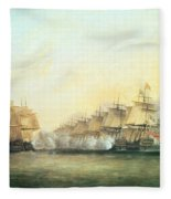 The Fourth Action Off Trincomalee Between The English And The French Fleece Blanket