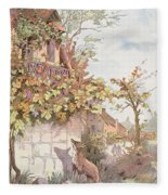 The Fox And The Grapes Fleece Blanket