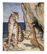 The Fox And The Leopard Fleece Blanket
