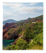 The French Riviera  Fleece Blanket
