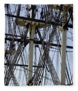 The Friendship Of Salem Tall Ship  In Salem Massachusetts Usa Fleece Blanket