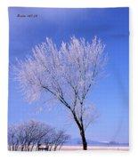 The Frost Like Ashes Fleece Blanket