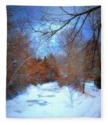 The Frozen Creek Fleece Blanket
