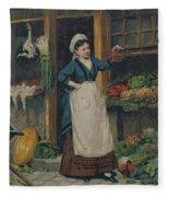 The Fruit Seller Fleece Blanket