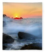 The Fury Of The Sea Fleece Blanket