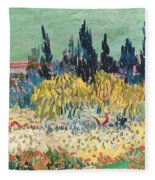 The Garden At Arles  Fleece Blanket