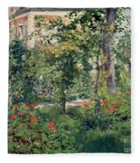 The Garden At Bellevue Fleece Blanket