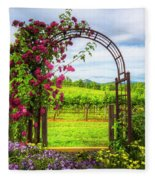 The Garden At The Winery Fleece Blanket