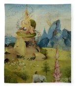 The Garden Of Earthly Delights, Detail Of Left Panel Showing Paradise Fleece Blanket