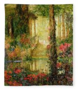 The Garden Of Enchantment Fleece Blanket