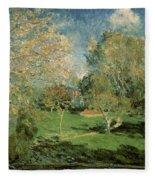 The Garden Of Hoschede Family Fleece Blanket