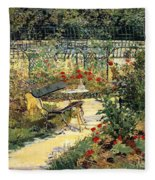 The Garden Of Manet Fleece Blanket