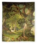 The Garden Of The Magician Klingsor, From The Parzival Cycle, Great Music Room Fleece Blanket