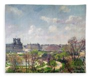 The Garden Of The Tuileries Fleece Blanket