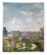 The Garden Of The Tuileries Fleece Blanket