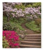 The Garden Steps Fleece Blanket