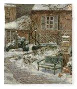 The Garden Under Snow Fleece Blanket
