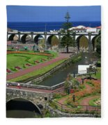 The Gardens Of Ribeira Grande Fleece Blanket