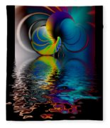 The Gate Across The Water Fleece Blanket
