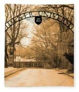 The Gate At Widener University Fleece Blanket