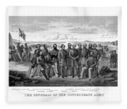 The Generals Of The Confederate Army Fleece Blanket