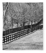 The Geometry Of Spring - Paint Bw Fleece Blanket