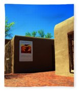 The Georgia O'keeffe Museum In Santa Fe Fleece Blanket