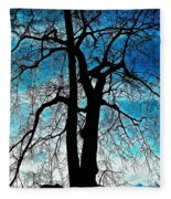 The Ghostly Tree Fleece Blanket