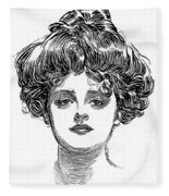 The Gibson Girl Fleece Blanket