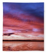 The Gloaming Of Lac Vieux Desert Fleece Blanket