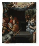The Glorification Of Art And Diligence And The Punishment Of Gluttony And Earthly Pleasures Fleece Blanket