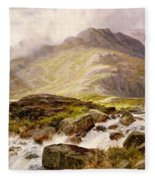 The Glyder Fawr  Fleece Blanket