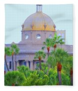 The Gold Dome Fleece Blanket