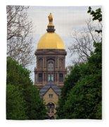 The Golden Dome Fleece Blanket
