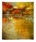 The Golden Dreams Of Autumn Fleece Blanket