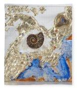 The Golden Flow Of Expansion Fleece Blanket