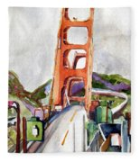 The Golden Gate Bridge San Francisco Fleece Blanket