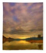 The Golden Glow Of Morning Fleece Blanket