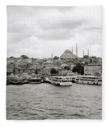 The Golden Horn Fleece Blanket