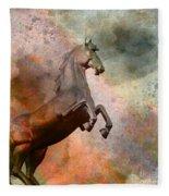 The Golden Horse Fleece Blanket
