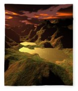 The Golden Lake Fleece Blanket