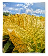 The Golden Leaf Fleece Blanket