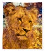 The Golden Lioness  Fleece Blanket