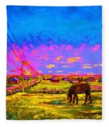 The Golden Meadow Fleece Blanket