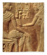 The Golden Shrine Of Tutankhamun Fleece Blanket
